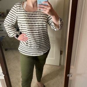 Black and White Pattered Blouse